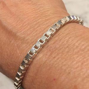 Jewelry - Sterling Silver Box Chain Bracelet